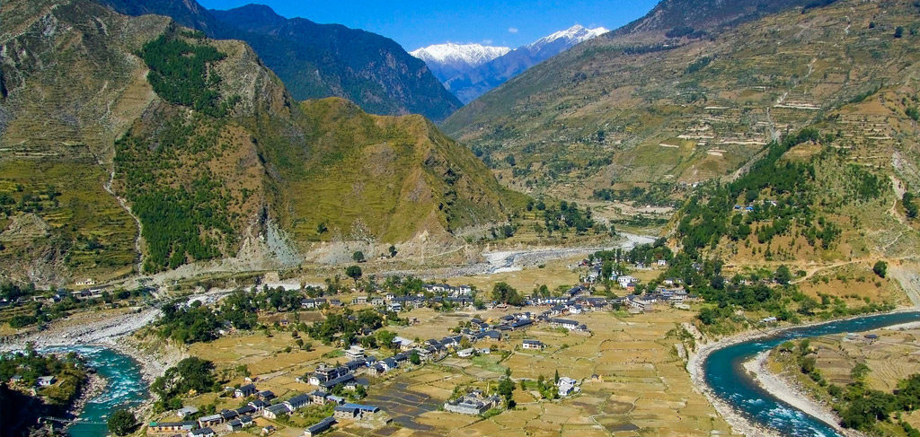 A Village at the foothills of Nepal